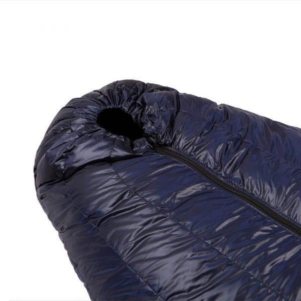 Пуховий спальний мішок капюшон фото