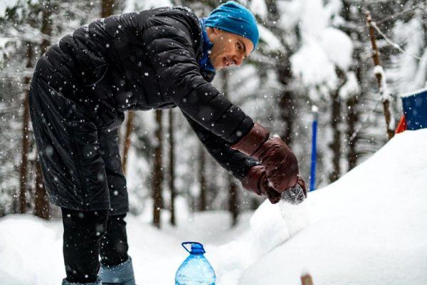 Пухові рукавиці для походів ROCK FRONT фото
