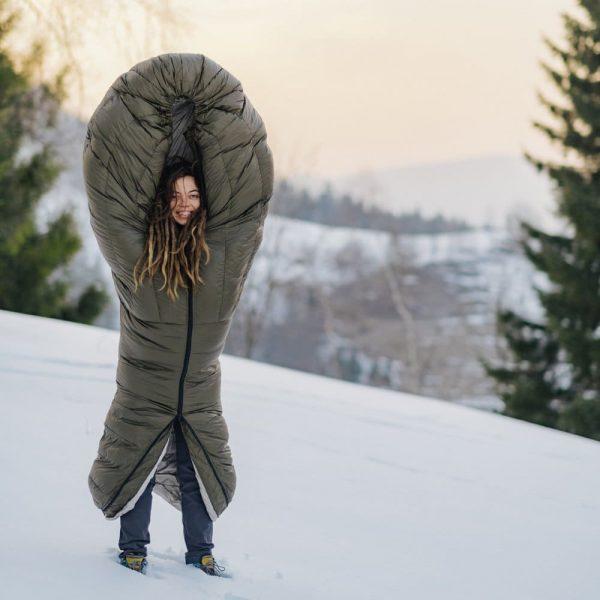 Зимовий пуховий спальник Рок Фронт фото