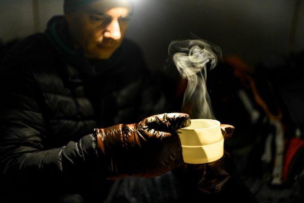 Пухові рукавиці ROCK FRONT Basic коричневі фото